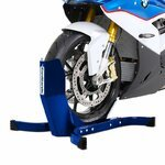 Motorcycle Wheel Chock Constands Easy Plus blue