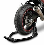 Rear Paddock Stand ConStands Superlight Racing Black Pic:4