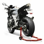Motorcycle paddock stand rear ConStands Classic Universal red Pic:4