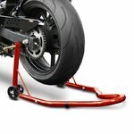 Motorcycle paddock stand rear ConStands Classic Universal red Pic:2
