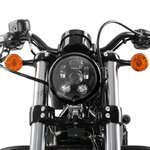 "LED Headlight Craftride 7"" for Harley Davidson black Pic:4"