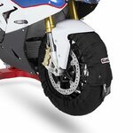 Motorcycle Tyre Warmers ConStands Superbike 60-80 C Set Black Pic:1