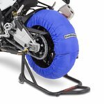 Motorcycle Tyre Warmers ConStands Superbike 60-80 °C Set Blue