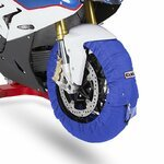 Motorcycle Tyre Warmers ConStands Superbike 60-80 °C Set Blue Pic:1