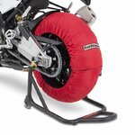 Motorcycle Tyre Warmers ConStands Superbike 60-80 °C Set Red