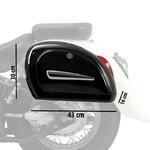 Motorcycle Hard saddlebags Craftride Michigan 18l + brackets Pic:2
