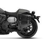 Chopper Solo Saddlebag Craftride Utah 11l black Genuine Leather Pic:4