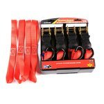 Automatic ratchet straps set with hooks for motorcycles 4x Pic:1
